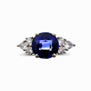 Sapphire And Diamond Trefoil Ring - 2.00ct